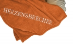 Hundedecke Herzensbrecher Orange/Champagner